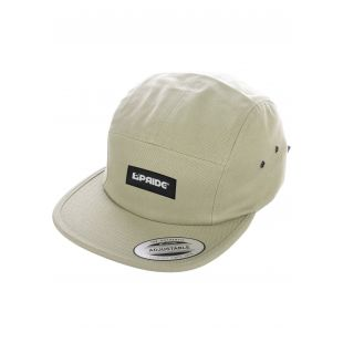 PRIDE 5 PANEL CAP WITH WOVEN LABEL PATCH